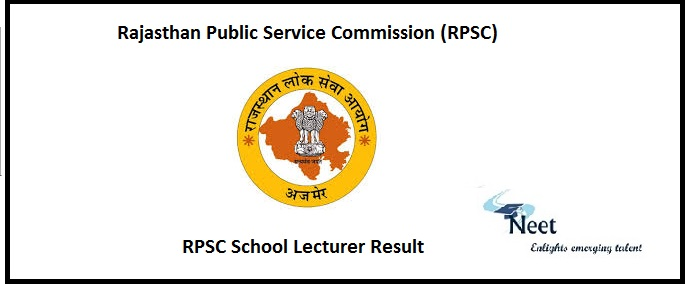 RPSC School Lecturer Result