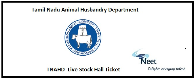 TNAHD Hall Ticket