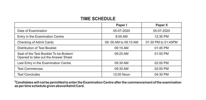 CTET-Exam-Time-information