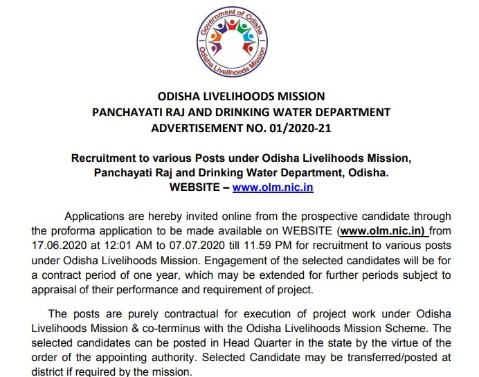 Odisha Panchayat Raj Recruitment