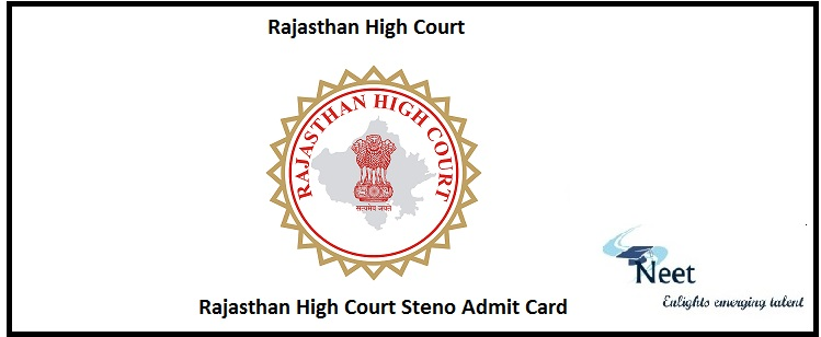 Rajasthan High Court Steno Admit Card