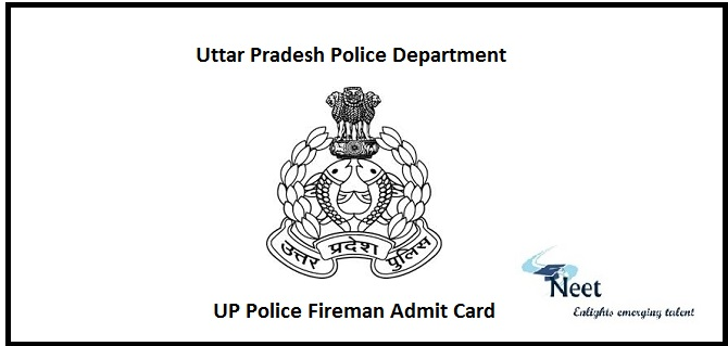 UP Police Fireman Admit Card