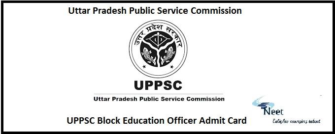 UPPSC Block Education Officer Admit Card