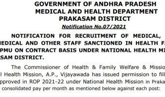 DMHO Prakasam Recruitment 2021