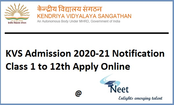 KVS-Admission-Notification-2020-21-apply