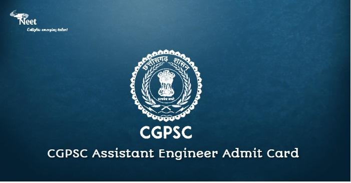 CGPSC AE Admit Card 2021