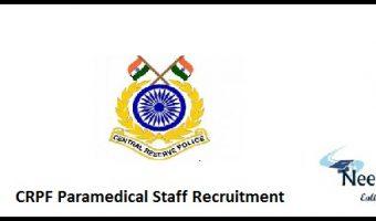 CRPF Paramedical Staff Recruitment