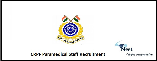 CRPF Paramedical Staff Recruitment
