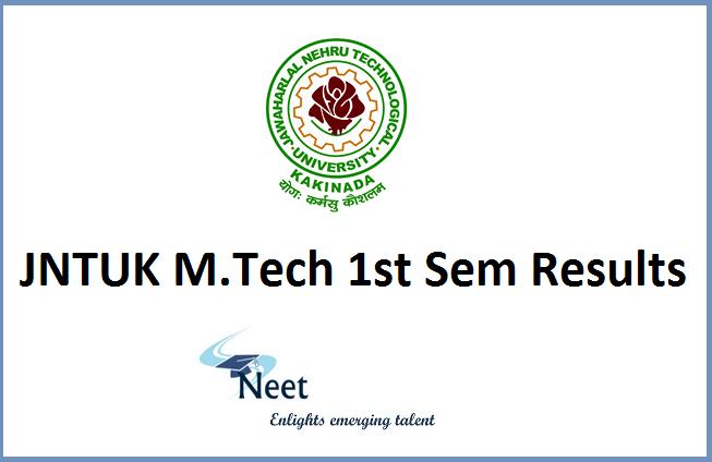 JNTUK-M.Tech-1st-sem-Results