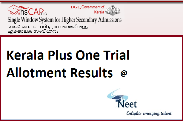 Kerala-Plus-One-Trial-Allotment-Results-2020