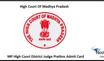 MP High Court District Judge Prelims Admit Card
