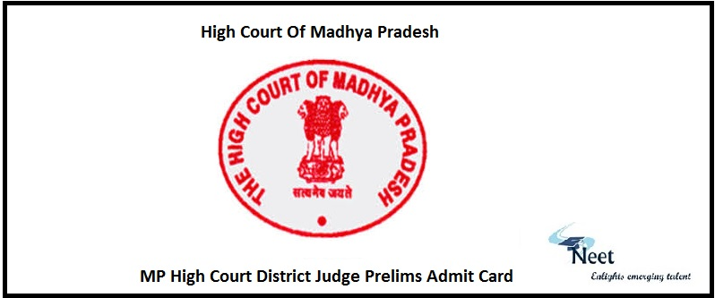 MP High Court District Judge Prelims Admit Card