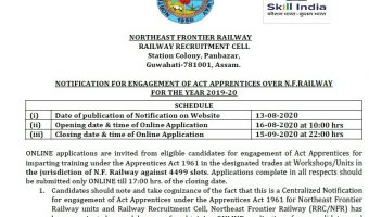 NFR Recruitment 2020