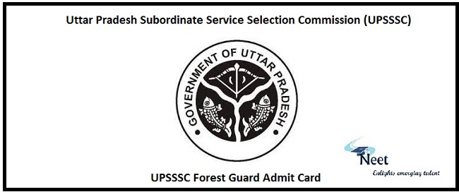 UPSSSC Forest Guard Admit Card 2020