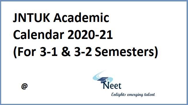 jntuk-academic-calendar-2020-21-for-3-1-and-3-2