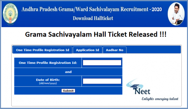 AP-grama-sachivalayam-hall-ticket-2020-released-download