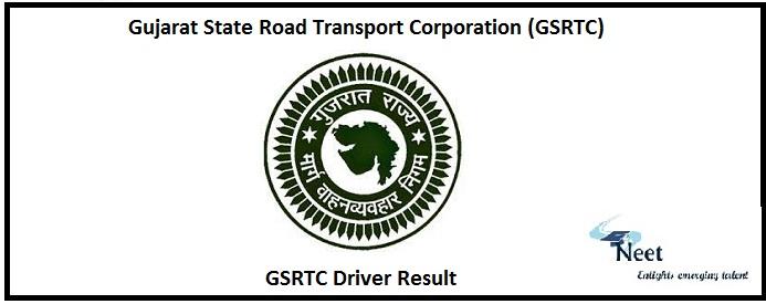 GSRTC Driver Result 2020