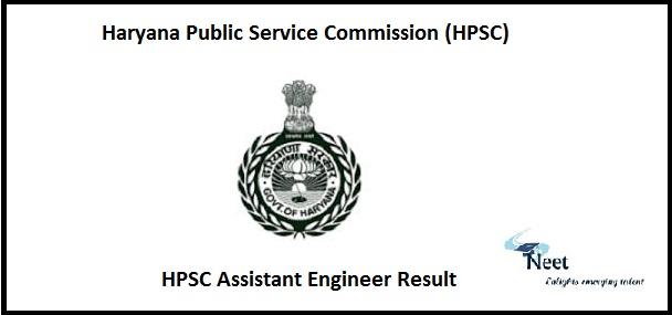 HPSC Assistant Engineer Result 2020