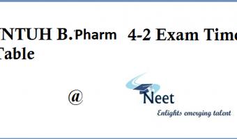 JNTUH-B.Pharmacy-time-table-2020