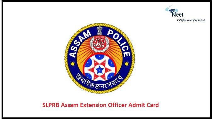 SLPRB Assam Extension Officer Admit Card