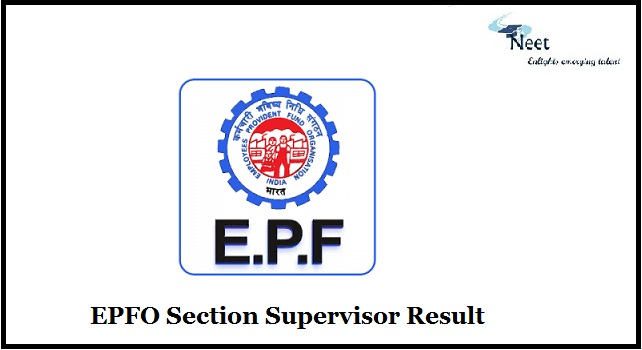 EPFO Section Supervisor Result