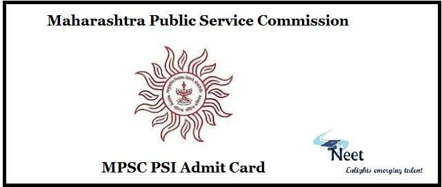 MPSC PSI Admit Card 2020