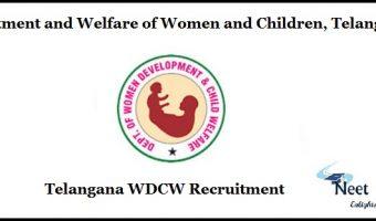 Telangana WDCW Recruitment
