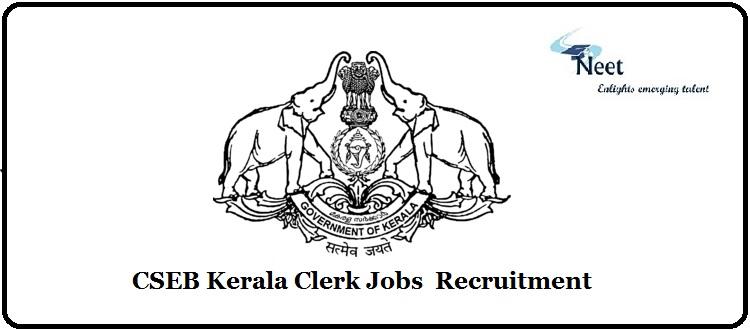 CSEB Kerala Clerk Jobs