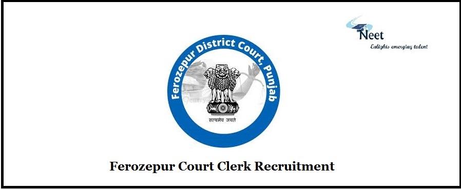 Ferozepur Court Recruitment