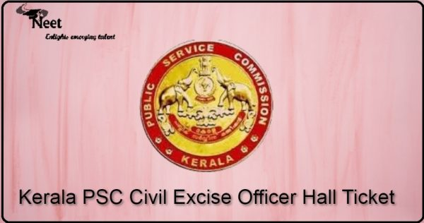 Kerala PSC Civil Excise Officer Hall Ticket 2021