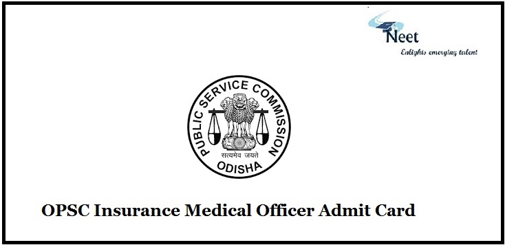 OPSC Insurance Medical Officer Admit Card