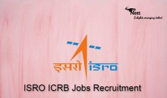 ISRO ICRB Jobs 2021