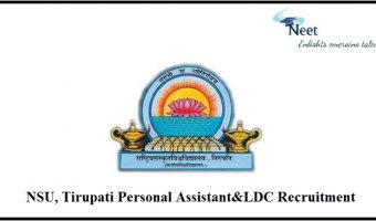 NSU, Tirupati Recruitment 2021
