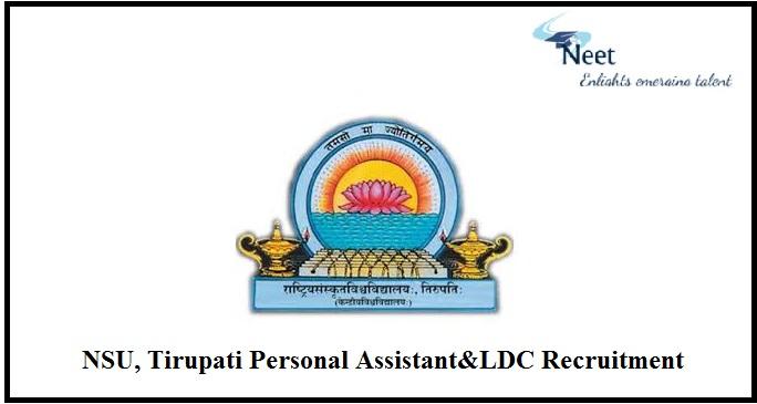 NSU, Tirupati Recruitment 2021