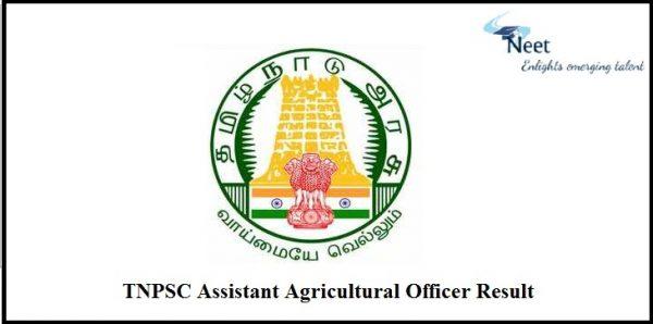 TNPSC Assistant Agricultural Officer Result 2021
