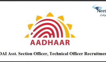 UIDAI Recruitment 2021