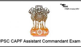 UPSC CAPF Assistant Commandant Exam 2021