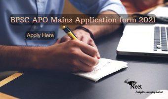 BPSC-APO-Mains-application-form-2021