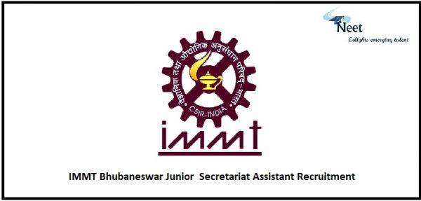 IMMT Bhubaneswar Recruitment 2021
