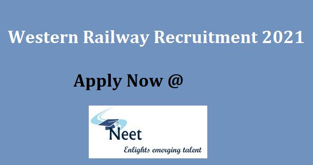 Western Railway Recruitment 2021 Apply Online