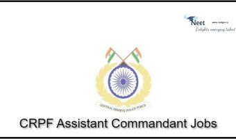CRPF Assistant Commandant Jobs 2021