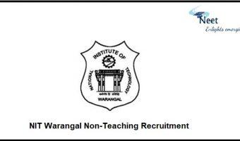 NIT Warangal Non-Teaching Recruitment 2021